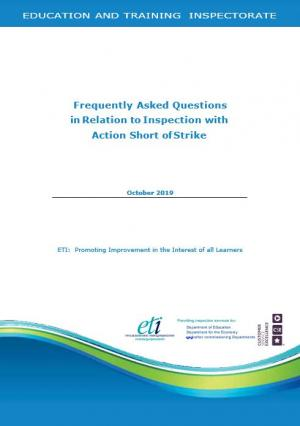 Frequently Asked Questions in Relation to Inspection with Action Short of Strike cover page.