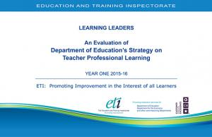 Evaluation of the Department of Education's Strategy on Teacher Professional Learning cover page