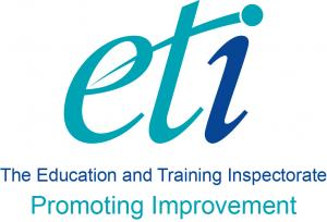 The Education and Training Inspectorate logo.