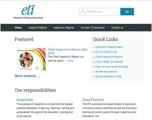 Education and Training Inspectorate website home page