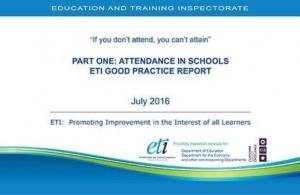 Part One Attendance In Schools ETI Good Practice Report cover page